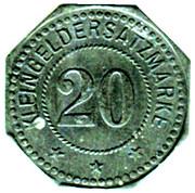 20 Pfennig - Kleingeldersatzmarke - (Buchsweiler) Bouxwiller [67] – revers