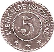 5 Pfennig (Burghausen an der Salzach) [Private, Bayern, Wacker Chemie] – revers