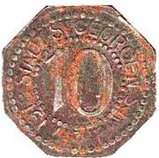 10 Pfennig (St Georgenim Schwarzwald) [Stadt, Baden] – avers
