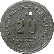 20 pfennig - Reichenbach (Wohltätigkeits & Pflegeanstalt) -  avers