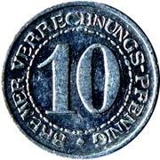 10 Pfennig (Bremen) [Stadt, Freie Stadt] – revers
