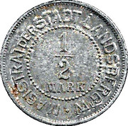 ½ Mark (Landsberg am Warthe) [Stadt, Brandenburg] – avers