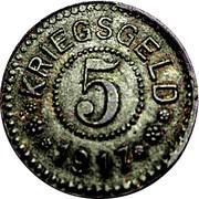 5 Pfennig (Frankfurt an der Oder) – revers