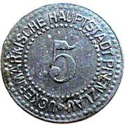 5 pfennig (Prenzlau) [Stadt Brandenburg] – revers