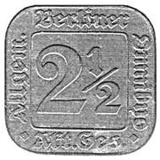 2½ Pfennig (Berlin Omnibus Token) – avers
