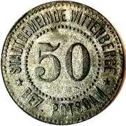 50 Pfennig (Wittenberge) [Stadtgemeinde, Brandenburg] – avers