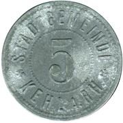 5 Pfennig (Kehl am Rhein) [Stadt, Baden] – avers
