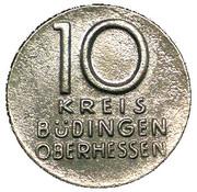 10 pfennig (Budingen) – avers