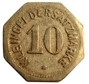 10 pfennig (Mainz) – revers
