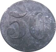 50 Pfennig - Bergheim (Zeche Mevissen) – revers