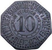 10 Pfennig - Blaichach (Allgäuer Baumwoll Spinn & Weberei) – avers