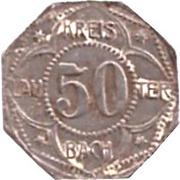 50 Pfennig (Lauterbach) [Kreis, Hessen] – avers