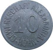 10 Pfennig - Höhn (Gewerkschaft Alexandria) – avers