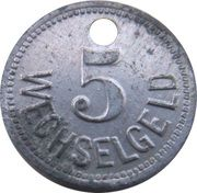 5 Pfennig - Züllchow (Stettiner Oelw. Act. Ges.) – revers