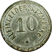 10 pfennig (Darmstadt) [HESSEN] – revers