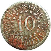10 pfennig nécessité (Dieburg) – avers