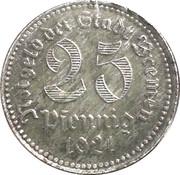 25 pfennig (Bremen) – avers