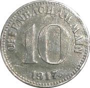 10 pfennig (Offenbach am Main) – avers
