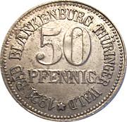 50 pfennig, bad blankenburg, schwarzburg rudolstadt – avers