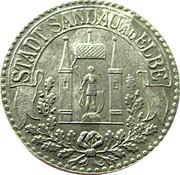 50 Pfennig stadt sandau 1918 -  avers