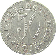 50 Pfennig stadt sandau 1918 -  revers