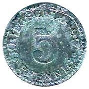 5 pfennig (Cassel) – revers