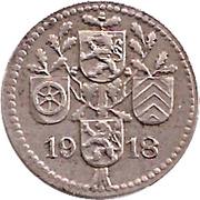 5 Pfennig (Dieburg) [Kreis, Hessen] – revers