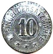 10 pfennig (Fulda) – revers