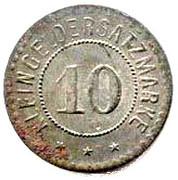 10 pfennig (Giessen) – revers