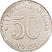 50 Pfennig (Offenbach am Main) [Stadt, Hessen] – avers
