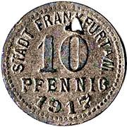 10 pfennig (Frankfurt a.M.) – avers