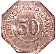 50 Pfennig (Hersfeld) [Stadt, Hessen-Nassau] – revers