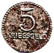 5 pfennig (Kaiserslautern) – revers