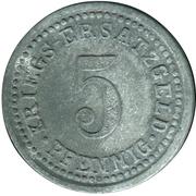 5 Pfennig (Wertheim am Main) [Stadt, Baden] – revers