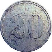 20 Pfennig (Frankfurt am Main) [Private, Hessen-Nassau, Haupt P. Bahnhof Gebr. Steinbach] – revers
