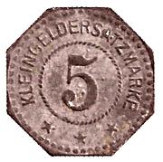 5 Pfennig (Ludwigshafen am Rhein) [Stadt, Pfalz] – revers