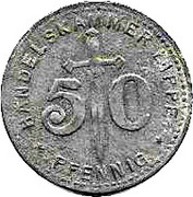 50 Pfennig (Lippe) [Handelskammer, Free State] – avers