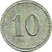 10 Pfennig (Frankfurt am Main) [Private, Hessen-Nassau, Haupt P. Bahnhof Gebr. Steinbach] – revers