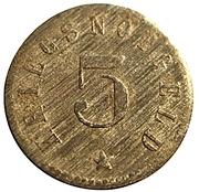 5 pfennig (Lützen) – revers