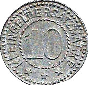 10 Pfennig (Koschmin) – revers