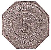 5 Pfennig (Mühlhausen in Thüringen) [Stadt, Sachsen] – avers