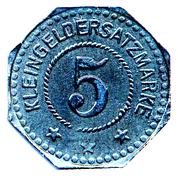 5 Pfennig (Nordhausen am Harz) [Sachsen] – revers