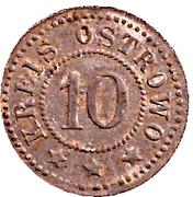 10 Pfennig (Ostrowo) [Stadt, Posen] – avers