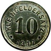 10 pfennig nécessité (Mansfeldsche) – revers