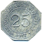 25 Pfennig Bitterfeld Zink – revers
