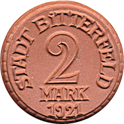 2 Mark - Bitterfeld – avers