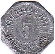 5 Pfennig (Hamborn) – avers