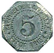 5 pfennig (Trier) – revers