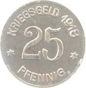 25 pfennig (Coblenz) -  revers