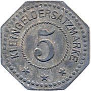 5 pfennig (Firma Peter Fix Sohne - Rheinprovinz,  Duisburg) – revers